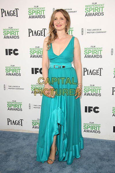 SANTA MONICA, CA - March 01: Julie Delpy at the 2014 Film Independent Spirit Awards Arrivals, Santa Monica Beach, Santa Monica,  March 01, 2014. Credit: Janice Ogata/MediaPunch<br /> CAP/MPI/JO<br /> &copy;JO/MPI/Capital Pictures