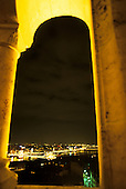 Budapest, Hungary. Overview of the city at night from the Fishermen's Bastion.