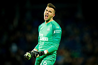 3rd March 2020; The Hawthorns, West Bromwich, West Midlands, England; English FA Cup Football, West Bromwich Albion versus Newcastle United; Karl Darlow of Newcastle United celebrates his team's second goal after 45 minutes (0-2)
