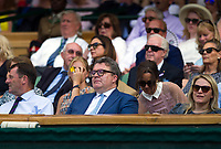 Labour deputy leader Tom Watson watching the Rafael Nadal versus Donald Young Second Round Tie<br /> <br /> Photographer Ashley Western/CameraSport<br /> <br /> Wimbledon Lawn Tennis Championships - Day 3 - Wednesday 5th July 2017 -  All England Lawn Tennis and Croquet Club - Wimbledon - London - England<br /> <br /> World Copyright &copy; 2017 CameraSport. All rights reserved. 43 Linden Ave. Countesthorpe. Leicester. England. LE8 5PG - Tel: +44 (0) 116 277 4147 - admin@camerasport.com - www.camerasport.com