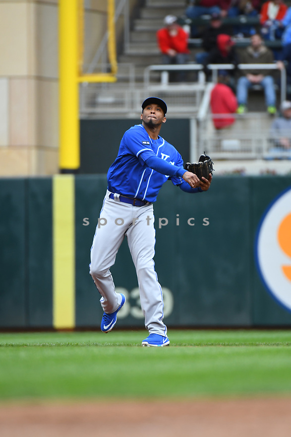 Kansas City Royals Alcides Escobar (2) during a game against the Minnesota Twins on April 5, 2017 at Target Field in Minneapolis, MN. The Twins beat the Royals 9-1.