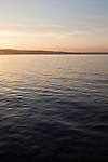 Sunset on Lake Michigan in Traverse City, Michigan in summer, USA