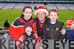Cailie Murphy, Finn Murphy, James Murphy, Joshua Fein-Kiely (Kenmare) pictured at Croke Park on Sunday for the Kenmare vs Ballinasloe final.