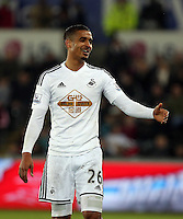 SWANSEA, WALES - MARCH 16: Kyle Naughton of Swansea<br />