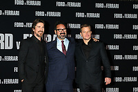 """LOS ANGELES - NOV 4:  Christian Bale, James Mangold, Matt Damon at the """"Ford v Ferrari"""" Premiere at TCL Chinese Theater IMAX on November 4, 2019 in Los Angeles, CA"""