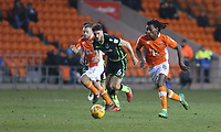 Blackpool's Sessi D'Almeida gets away from Bristol Rovers' Ryan Sweeney <br /> <br /> Photographer Stephen White/CameraSport<br /> <br /> The EFL Sky Bet League One - Blackpool v Bristol Rovers - Saturday 13th January 2018 - Bloomfield Road - Blackpool<br /> <br /> World Copyright &copy; 2018 CameraSport. All rights reserved. 43 Linden Ave. Countesthorpe. Leicester. England. LE8 5PG - Tel: +44 (0) 116 277 4147 - admin@camerasport.com - www.camerasport.com