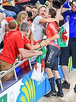 Wales' Elinor Barker wins gold in the womens points race. Cycling, Commonwealth Games, Gold Coast, Australia. Saturday, 7 April, 2018. Copyright photo: John Cowpland / www.photosport.nz /SWpix.com