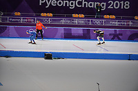 OLYMPIC GAMES: PYEONGCHANG: 15-02-2018, Gangneung Oval, Long Track, 10.000m Men, Seung-Hoon Lee (KOR), Moritz Geisreiter (GER), ©photo Martin de Jong