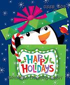 Sarah, CHRISTMAS ANIMALS, WEIHNACHTEN TIERE, NAVIDAD ANIMALES, paintings+++++PenguininPresent-18-A-1,USSB609,#xa# ,penguin,penguins,