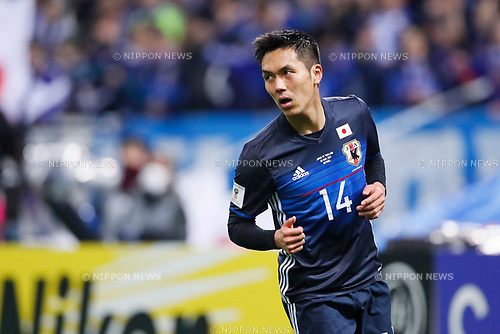 Yuya Kubo (JPN), <br /> MARCH 28, 2017 - Football / Soccer : <br /> FIFA World Cup Russia 2018 Asian Qualifier <br /> Final Round Group B <br /> between Japan 4-0 Thailand <br /> at Saitama Stadium 2002, Saitama, Japan. <br /> (Photo by Yohei Osada/AFLO)