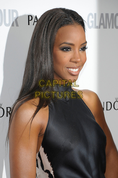 Kelly Rowland.Women Of The Year 2012 - Glamour Awards, Berkeley Square, London, England..29th May 2012.headshot portrait silver hoop earrings black sleeveless  .CAP/PL.©Phil Loftus/Capital Pictures.