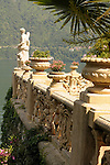 The gardens of Villa del Balbianello on Lake Como, Italy.