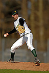 24 April 2007: University of Vermont Catamounts' Jeremiah Bayer, a Sophomore from Greenfield, MA, on the mound against the Dartmouth College Big Green at Historic Centennial Field, in Burlington, Vermont. The Catamounts defeated the Big Green 11-5...Mandatory Photo Credit: Ed Wolfstein Photo