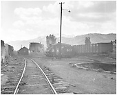 View of K-27 #461 from rear in Ridgway yards.<br /> RGS  Ridgway, CO
