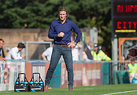 Wycombe Wanderers Manager Gareth Ainsworth during the Sky Bet League 2 match between Wycombe Wanderers and York City at Adams Park, High Wycombe, England on 8 August 2015. Photo by Andy Rowland.