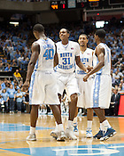 Harrison Barnes, John Henson, Kendall Marshall and Dexter Strickland, UNC vs Mississippi Valley State at the Dean Smith Center, Chapel Hill, NC, Sunday, November 20, 2011. .