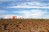 One can walk for days in the interior of beautiful Iceland and never see another person. This emergency hut on a volcanic plain <br /> provided me some solace.