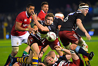 Richard Judd passes from a ruck during the 2017 DHL Lions Series rugby union match between the NZ Provincial Barbarians and British & Irish Lions at Toll Stadium in Whangarei, New Zealand on Saturday, 3 June 2017. Photo: Dave Lintott / lintottphoto.co.nz
