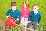 GARDENING: Nagle Rice School pupils in Milltown enjoying their new school garden last Thursday, l-r: Cathal Daly, Selina Morissey, Daniel Milawinski.