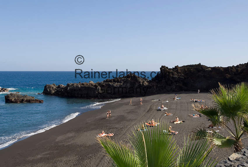 Spain, Canary Islands, La Palma, Los Cancajos: resort at the east coast with beach Playa de los Cancajos