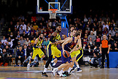 8th December 2017, Palau Blaugrana, Barcelona, Spain; Turkish Airlines Euroleague Basketball, FC Barcelona Lassa versus Fenerbahce Dogus Istanbul; Petteri Koponec of FC Barcelona fights the ball