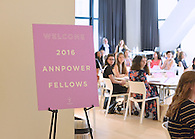 The 2016 ANNpower fellows and mentors at the leadership forum.