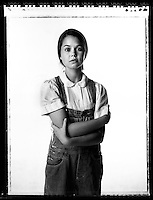 Paige Silvester (cq), 15, plays Scout in To Kill A MockingBird. Photo taken in the studio on Wednesday, September 13, 2006. Sacramento Bee/ Kevin German