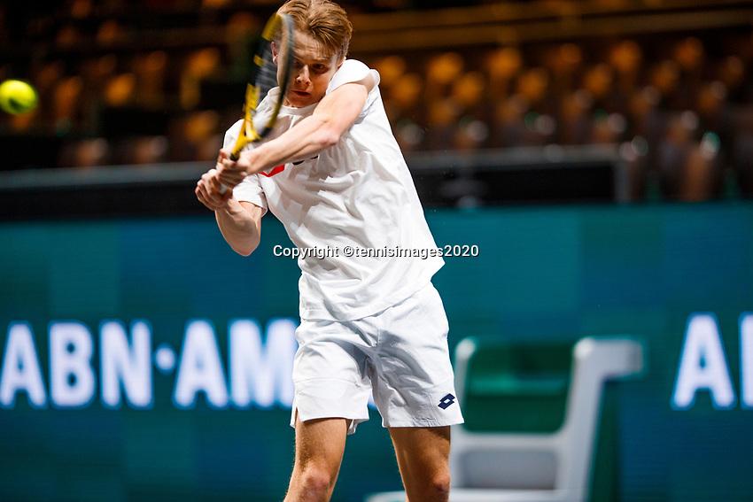 Rotterdam, The Netherlands, 11 Februari 2020, ABNAMRO World Tennis Tournament, Ahoy, <br /> Stefanos Tsitsipas (GRE), Hubert Hurkacz (POL). <br /> Photo: www.tennisimages.com