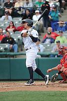 Trenton Thunder infielder Rob Refsnyder (24) during the game against the Harrisburg Senators at ARM & HAMMER Park on May 21, 2014 in Trenton, New Jersey.  Harrisburg defeated Trenton 9-0.  (Tomasso DeRosa/Four Seam Images)