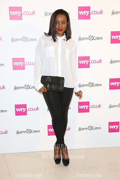 Keisha Buchanan arriving for  Spring/Summer 2013 Very.co.uk fashion launch, London. 13/09/2012 Picture by: Alexandra Glen / Featureflash..