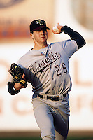 Barry Zito of the Visalia Oaks during a California League baseball game circa 1999. (Larry Goren/Four Seam Images)
