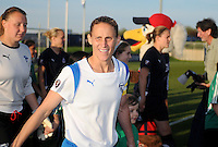 Boston Breakers  midfielder Kristine Lilly (13) entering the stadium.  Boston Breakers defeated Washington Freedom 3-1 at The Maryland SoccerPlex, Saturday April 18, 2009.