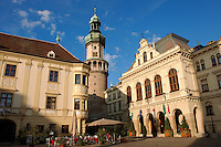 The Fire Tower (T?ztorony) with the Town Hall - Sopron, Hungary