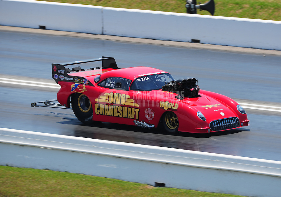 Apr. 29, 2011; Baytown, TX, USA: NHRA pro mod driver Scott Ray during qualifying for the Spring Nationals at Royal Purple Raceway. Mandatory Credit: Mark J. Rebilas-