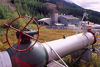 Natural Gas Pipeline at Compressor Station, Pine Pass, Northern BC, British Columbia, Canada