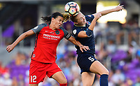 Orlando, FL - Saturday October 14, 2017: Christine Sinclair, Samantha Mewis during the NWSL Championship match between the North Carolina Courage and the Portland Thorns FC at Orlando City Stadium.