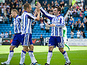 KILMARNOCK'S PAUL HEFFERNAN CELEBRATES AFTER HE SCORES KILLIE'S FOURTH