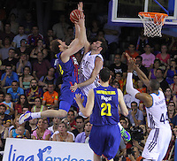 16.06.2013 Barcelona, Spain. Liga Endesa . Playoff game 4 Picture show Joe Ingles in action during game between FC Barcelona against Real Madrid at Palau Blaugrana