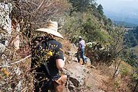 walk with Alfonso. Annuska, Felix and I in Federico Rigolettis weekend house near Valle de Bravo. Reserva el Peñon, Temascaltepec, Estado de Mexico