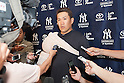 Masahiro Tanaka (Yankees),<br /> MARCH 12, 2015 - MLB :<br /> Masahiro Tanaka of the New York Yankees is interviewed by the press after a spring training baseball game against the Atlanta Braves at George M. Steinbrenner Field in Tampa, Florida, United States. (Photo by Thomas Anderson/AFLO) (JAPANESE NEWSPAPER OUT)