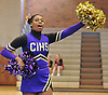 A member of the Central Islip varsity cheerleaders performs during a competition held at Hauppauge High School on Saturday, Jan. 21, 2017.