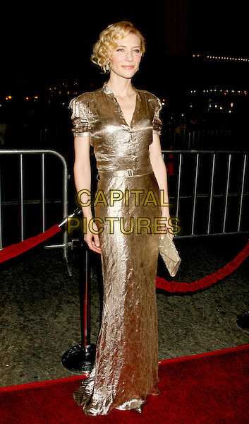 "CATE BLANCHETT.""Babel"" Special Presentation held at Mann Village Theater, Westwood, California, USA..November 5th, 2006.Ref: ADM/RE.full length gold dress metallic clutch purse.www.capitalpictures.com.sales@capitalpictures.com.©Russ Elliot/AdMedia/Capital Pictures. *** Local Caption *** ."