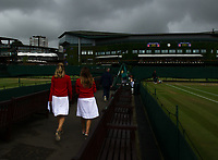 Staff arriving early on Day 9<br /> <br /> Photographer Ashley Western/CameraSport<br /> <br /> Wimbledon Lawn Tennis Championships - Day 9 - Wednesday 12th July 2017 -  All England Lawn Tennis and Croquet Club - Wimbledon - London - England<br /> <br /> World Copyright &copy; 2017 CameraSport. All rights reserved. 43 Linden Ave. Countesthorpe. Leicester. England. LE8 5PG - Tel: +44 (0) 116 277 4147 - admin@camerasport.com - www.camerasport.com