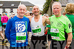 Gerard O'Connell, Patrick Dillane and Tedfy Reynolds at the start of the Kerry's Eye Tralee, Tralee Half Marathon on Saturday.