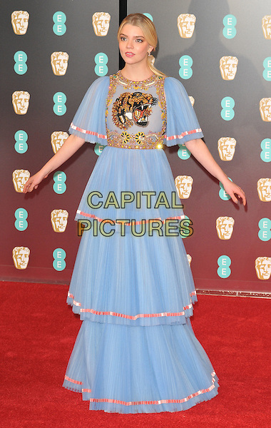 Anya Taylor-Joy at the EE British Academy Film Awards (BAFTAs) 2017, Royal Albert Hall, Kensington Gore, London, England, UK, on Sunday 12 February 2017.<br /> CAP/CAN<br /> &copy;CAN/Capital Pictures