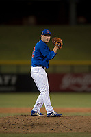 AZL Cubs 1 relief pitcher Jack Patterson (63) prepares to deliver a pitch during an Arizona League game against the AZL Cubs 1 at Sloan Park on June 28, 2018 in Mesa, Arizona. The AZL Athletics defeated the AZL Cubs 1 5-4. (Zachary Lucy/Four Seam Images)