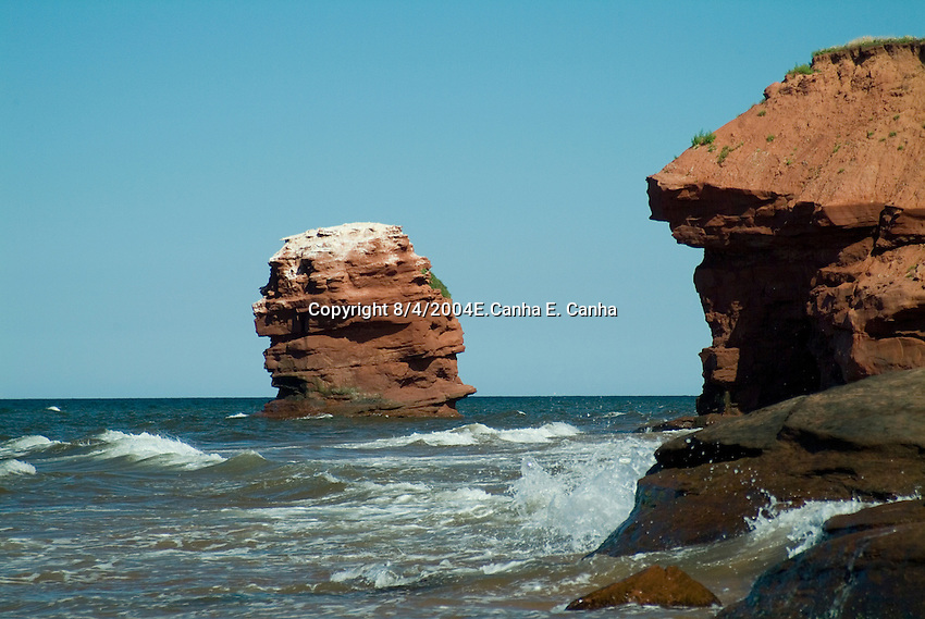 A scene from Prince Edward Island on a summer day. Prince Edward Island, Canada