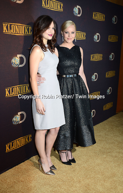 "Conor Leslie and Abbie Cornish attends the premiere of Discovery Channel's first scripted series  "" Klondike"" on January 16, 2014 at Best Buy Theater in New York City. The series will run on January 20, 21 and 22, 2014."