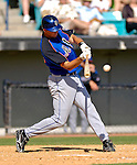 15 March 2006: Chris Basak, infielder for the New York Mets, at bat during a Spring Training game against the Washington Nationals. The Mets defeated the Nationals 8-5 at Space Coast Stadium, in Viera, Florida...Mandatory Photo Credit: Ed Wolfstein..