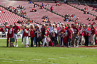 Stanford, California - October 25, 2014: Stanford Football vs Oregon State. The Cardinal defeated the Beavers 38-14.